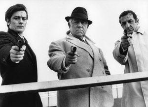 Alain Delon, Lino Ventura et Jean Gabin dans Le Clan des Siciliens
